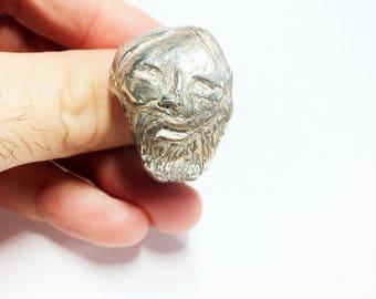 Biker Ring, Mens Sterling Silver Ring, Men's Rocker Ring, Goth Ring, biker jewelry, .925, Johnny Depp Jewelry - Lugdun Artisans