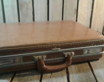 Vintage Camel Leather Briefcase