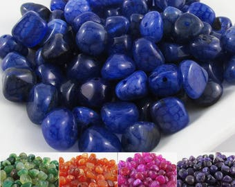 20pcs Natural Agate Nugget Bead Heat Dyed Size varies 8 to 12 mm Select colour