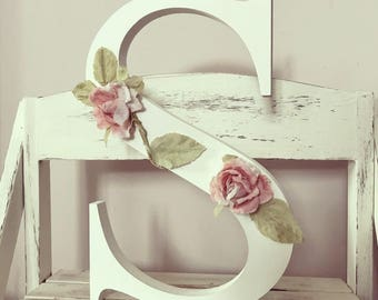 Shabby Chic Wooden Letter 12 Inch
