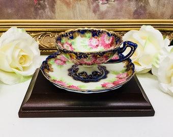 RARE Nippon teacup and saucer circa 1800's