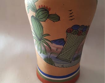 Vase hand painted from mexico.