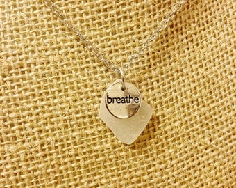 Breathe White Beach Glass Necklace