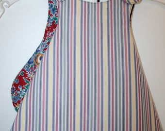 6 months,  Primary Colors Striped Reversible Sundress.