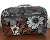 Retro Flower Suitcase