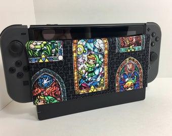 Nintendo Switch Dock Sock- Zelda stained glass