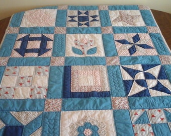 Vintage, baby quilt or wall hanging.