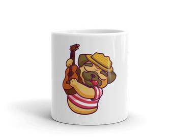 Cute Pug Mug, Coffee Mug, Pug Gift, Dog Mug, Pug Gifts, Pug Coffee Mug, Pug Lover Mug, Ceramic Mug, Animal Mug, Funny Pug, Cute Dog Mug,