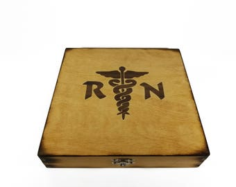 Registerned Nurse Inlay Keepsake Box - RN Gift - Gift for RN