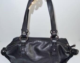 Great vintage black faux leather SOPRANO handbag - in very good condition.