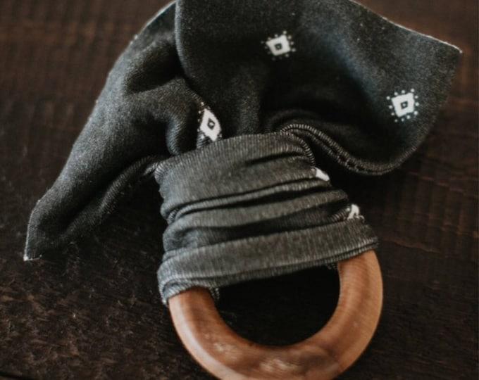 Black & Cream Diamond /// Organic Teether