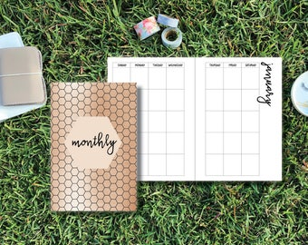 A6 (#3) TN/Ring Bound  BLANK MONTHLY