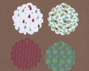 "20 - 2 1/2"" Scalloped Circle   Christmas Gift Tags  T7"