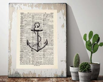 Print anchor-on antique page
