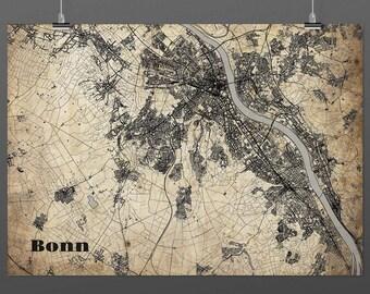 Bonn DIN A4 / DIN A3 - print - turquoise