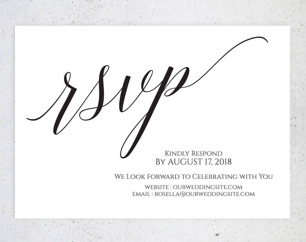 create your own rsvp cards