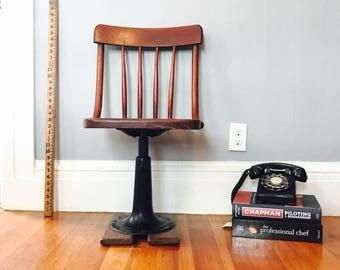 Rare Heywood Eclipse Cast Iron Chair