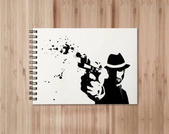 Gangster Notebook/Sketchbook Wire Bound - Blank pages