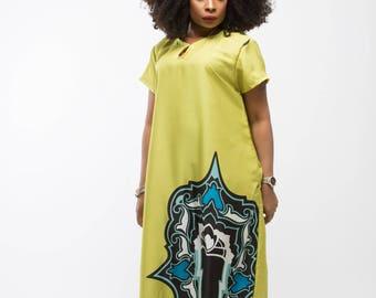 Lemonade Taffeta Dress
