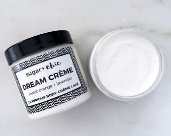 DREAM CRÈME Luxurious Butter Crème | Moisturizing Body Butter. Whipped Body Butter. Body Butter Cream. Organic Body Butter.