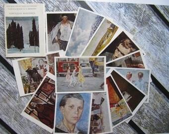 Soviet painting postcards vintage soviet art postcards collectible unused postcards set postcard Soviet artists color postcards art gallery