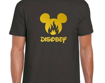 Disobey - Mickey Mouse | Childhood Inc | Fears And Doubts Factory | Disney BS No More | Anti Illusionary | T Shirt
