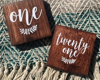 Wooden Table Numbers (Set of 20) Wedding Decor, Table Numbers, Wedding Table Numbers, Table Decor, Rustic Table Numbers, Reception Decor