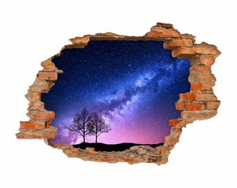 053 wall decals milky way - hole in the wall