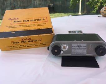 Vintage Kodak 35 mm. Film Adapter.A