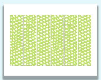 Printable Napkin Rings, Paper, Party Decor, Paper Napkin Ring, Printable Party Decorations, Modern, Spring Green Pattern, Napkin Bands