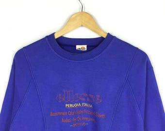Rare!! Ellesse Tennis Perugia Italia big spellout pullover sweatshirt / Small size