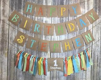 Little Monster 1st Birthday Banner, Little Monster 1st Birthday set, Cute Monster Birthday Banner, Little Monster High Chair Birthday Banner