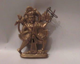 Surya, hindu god brass lock (no key)