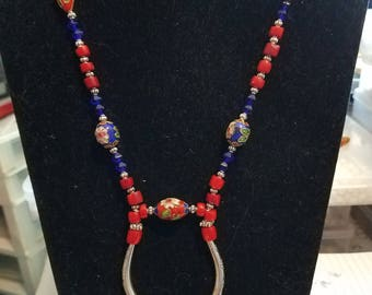 CLOISONNE,Red Corral, Pewter