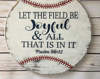Wooden Baseball Psalm 96:12