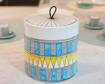 Decorated Ceramic food containers