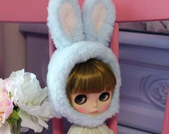 Blythe hat, Blythe helmet - Blue Rabbit