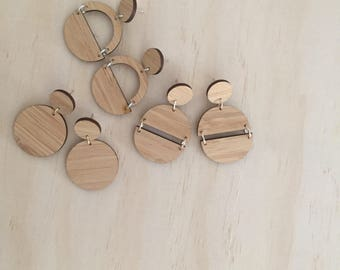 Wooden Range - Dangle Studs / carious styles