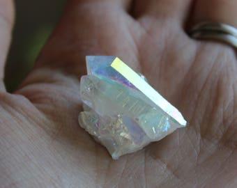 Angel aura quartz, opal aura quartz, angel aura, opal aura, aura quartz, quartz cluster, crystals, treated crystals