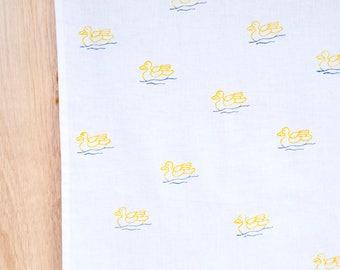 Yellow Duck cotton tea towel