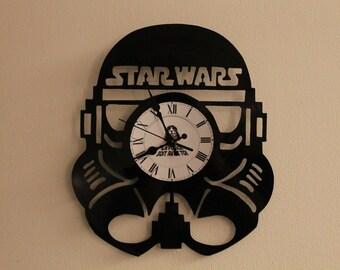 Clock vinyl 33 tours Star Wars theme