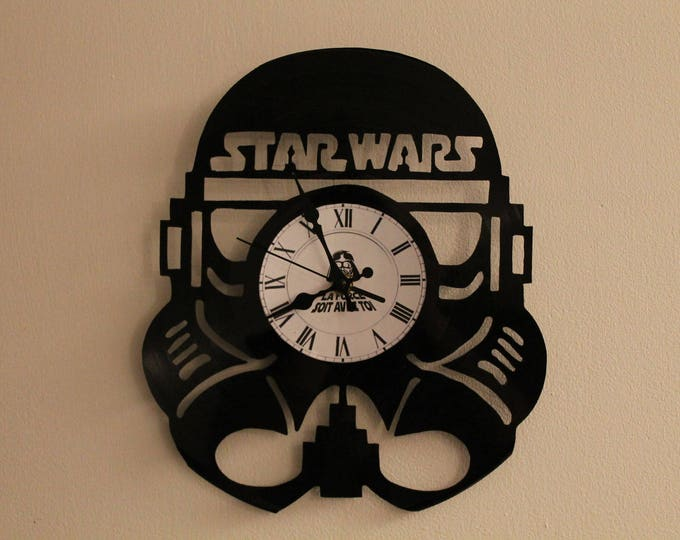 Clock vinyl 33 tours Star Wars theme