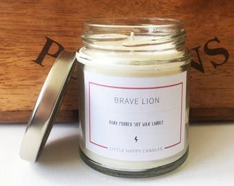 Brave Lion - Handpoured soy wax candle