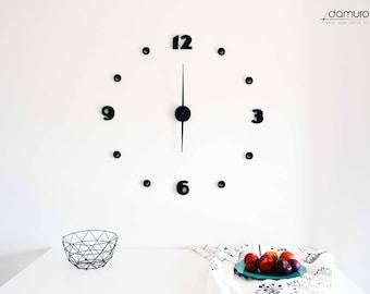 900   damuro (your wall clock kit) - Large 3D embossed wall clock, customizable