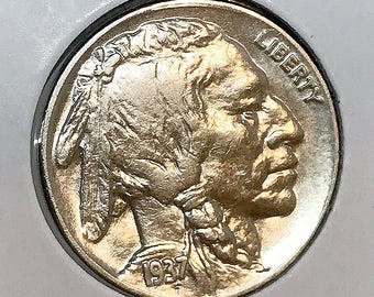 1937 P Buffalo Nickel - Choice BU / MS / UNC
