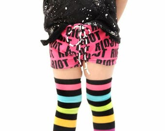 Rad Punk Riot Euro Swim Trunks Pink Black Neon Pink Monochrome Whale Swimsuit Trunks Rock Modern Baby Toddler Boy Girl Summer