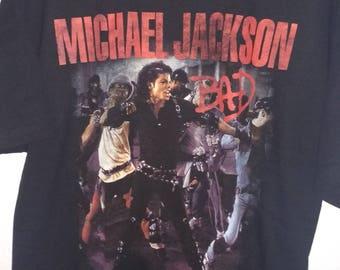 Vintage Michael Jackson T-shirt, Michael Jackson Tees, Bad, Bad Tour, Michael Jackson, Jackson Bad shirt, Vintage Jackson, Bad t shirt