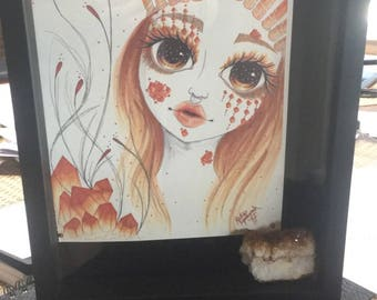 CRYSTAL SHADOWBOX ART Tsarina Citrine