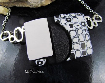 Modern black and white pendant No. 2