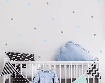 Polka Dots Wall Decal - 2.5cm Set of 70+ - Wall Sticker Pattern - Nursery Kids Baby Room Wall Decal | PP101